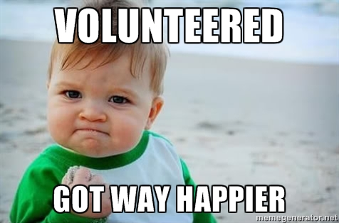 Volunteering makes you happier