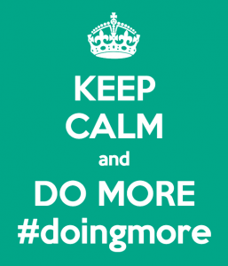 #DoingMore