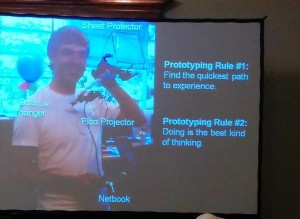 Tom Chi (Factory X) presenting the principles of Rapid Prototyping