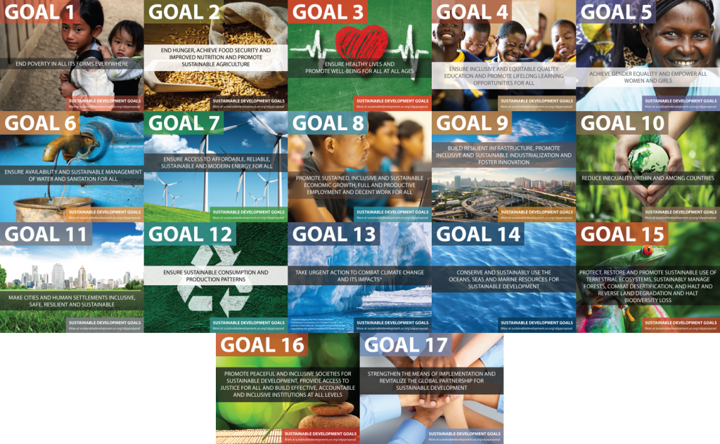 Summary of 17 Sustainable development goals