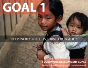 SDG Goal 1 - Poverty from United Nations Sustainable Development Goals