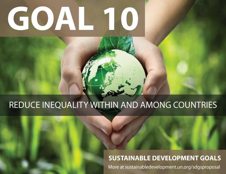 SDG Goal 10 - Reduce inequality