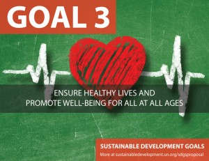 SDG Goal 3 - health from United Nations Sustainable Development Goals