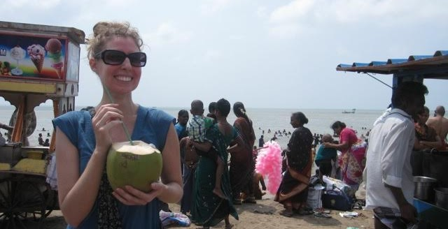 Image of Erin traveling off the beaten path in India