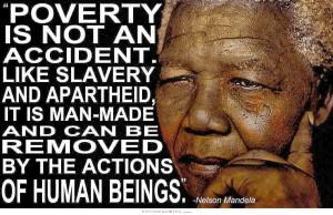 Mandela quote above poverty