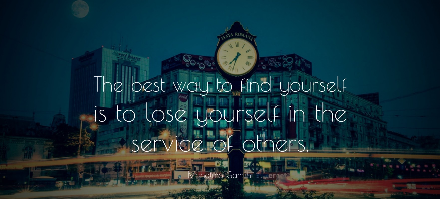 Find yourself through service quote