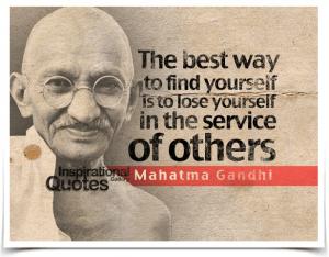 Best way to find yourself quote Gandhi