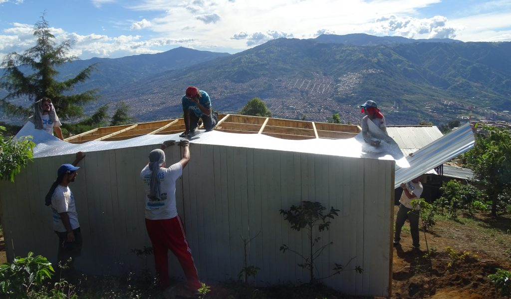 My project at Colombia Immersion led to other amazing opportunities to be able to contribute directly to the local community; here, building a house with Techo. http://www.techo.org/en