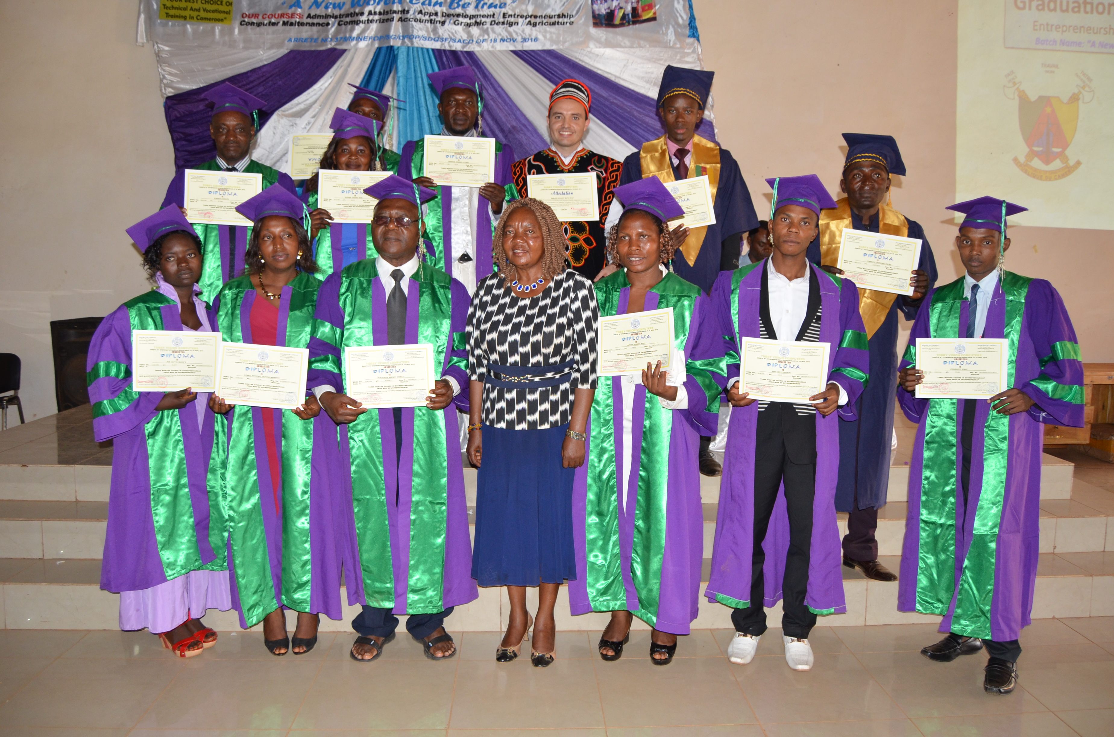 The proud graduates of the Tobby Vision Entrepreneurship Course.