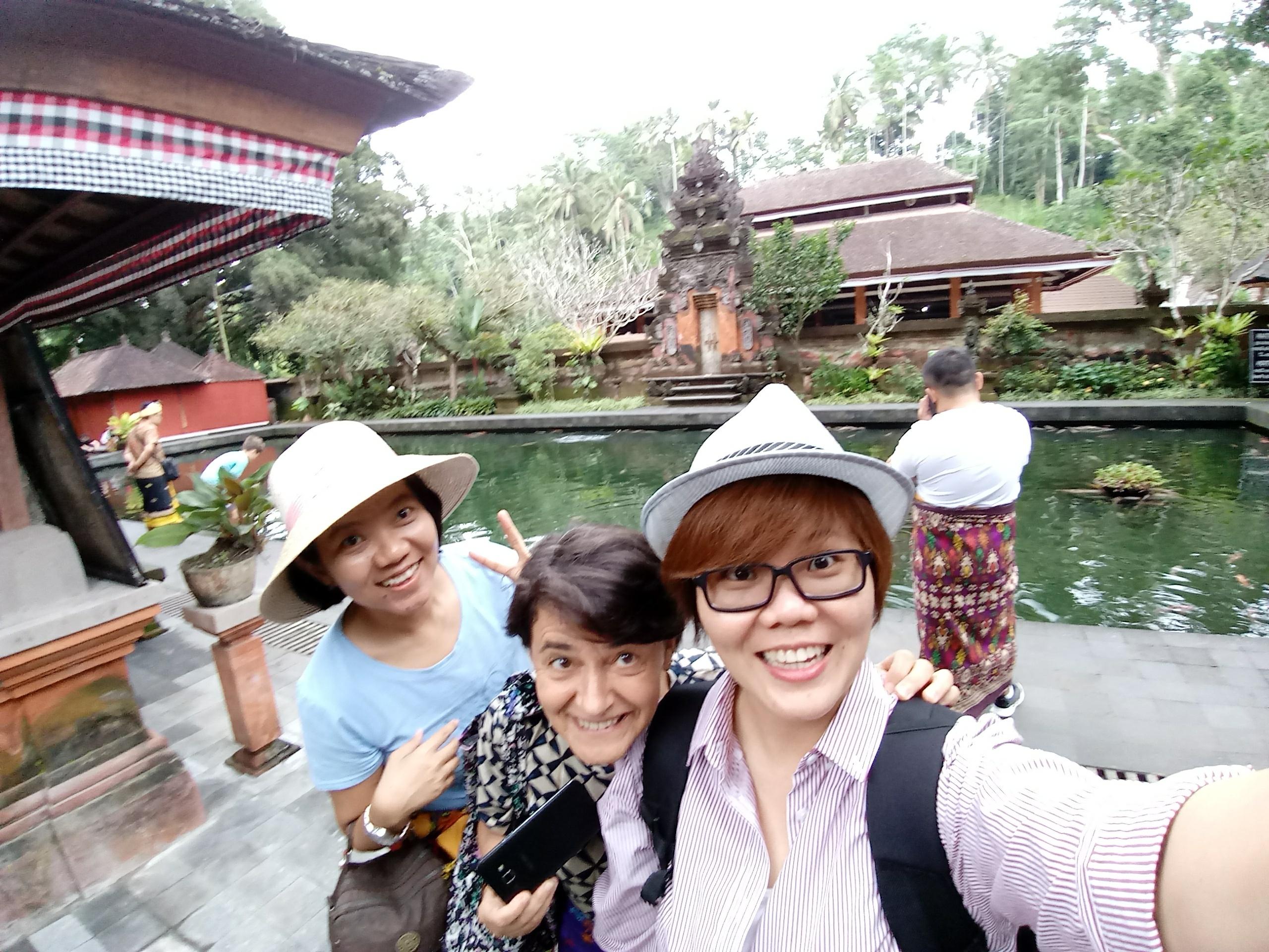 Marina exploring Bali with Felecia and Melia.