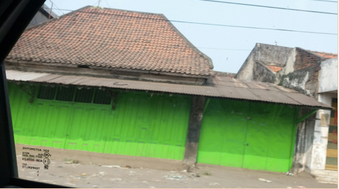 These are typical homes in the Surabaya village.