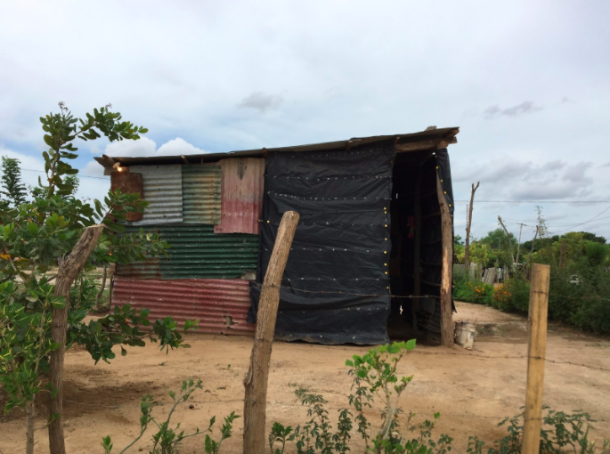 This is a typical house at Sonrisa de Dios, the neighborhood where most NicaPhoto students live.