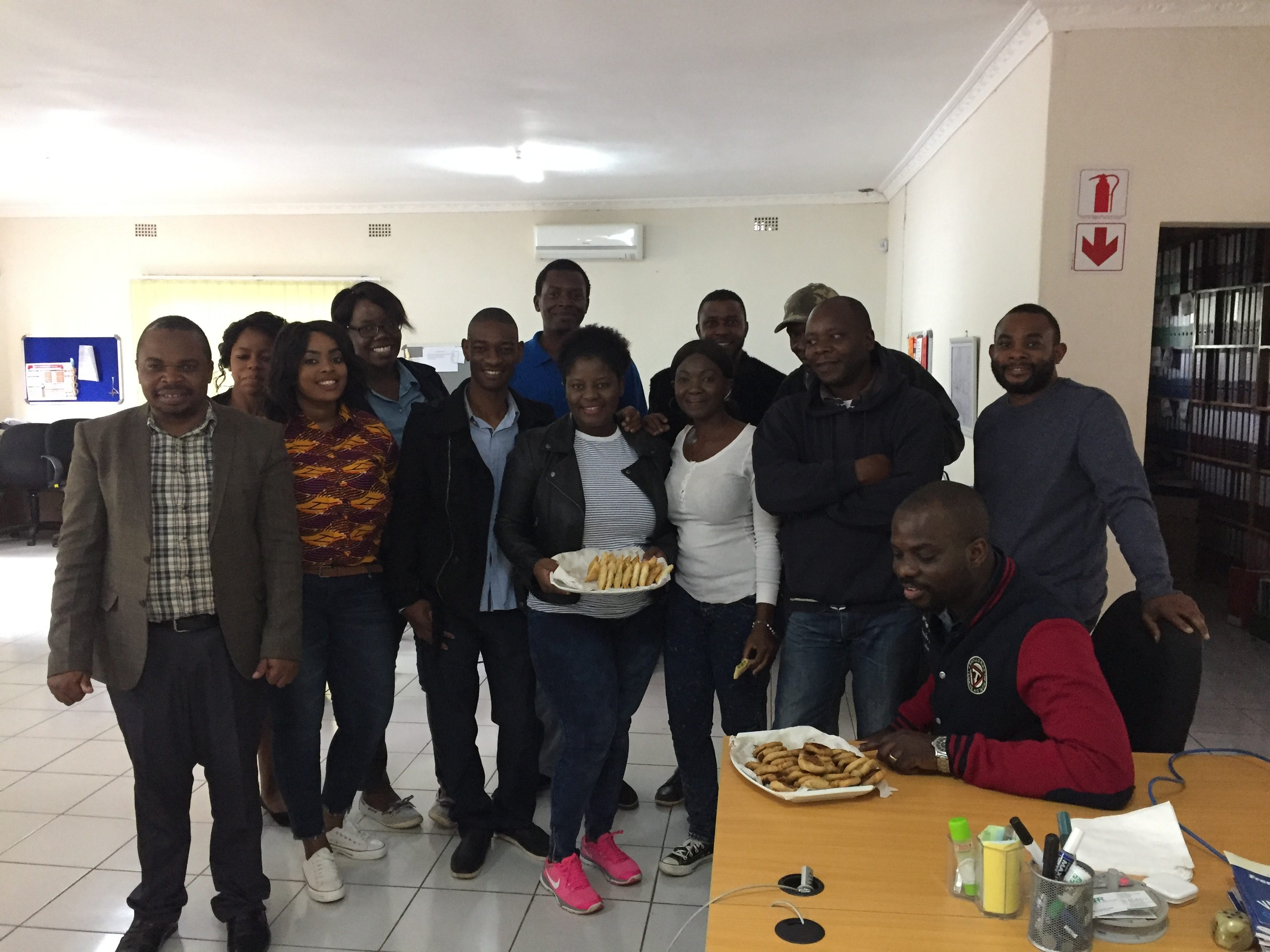 On her last day of the fellowship, Ankita brought in some home made food so that she could share a meal with her awesome colleagues at Zambian Governance Foundation.