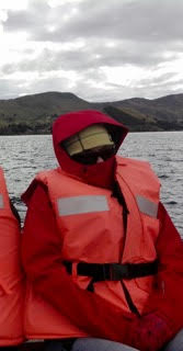 Laurie exploring Lake Titicaca.