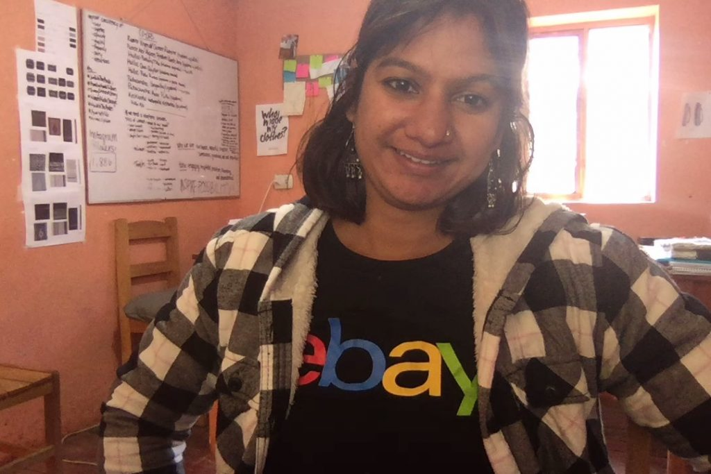 Ruchi on-site sporting her eBay shirt