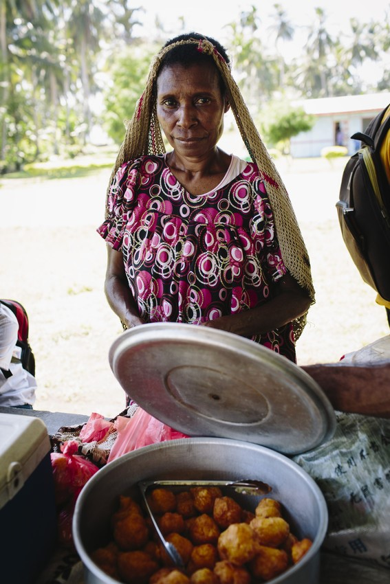 Image of eating amazing local food while volunteering overseas