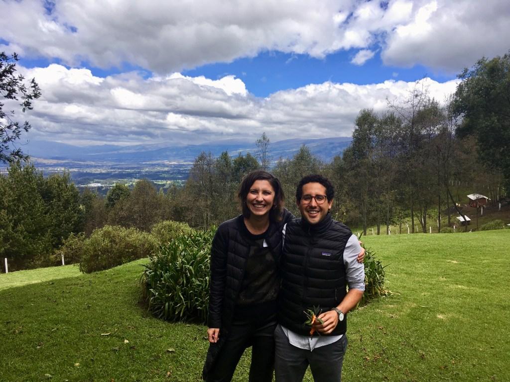 Andreia with Jose Ignacio, one of the directors of Sistema B