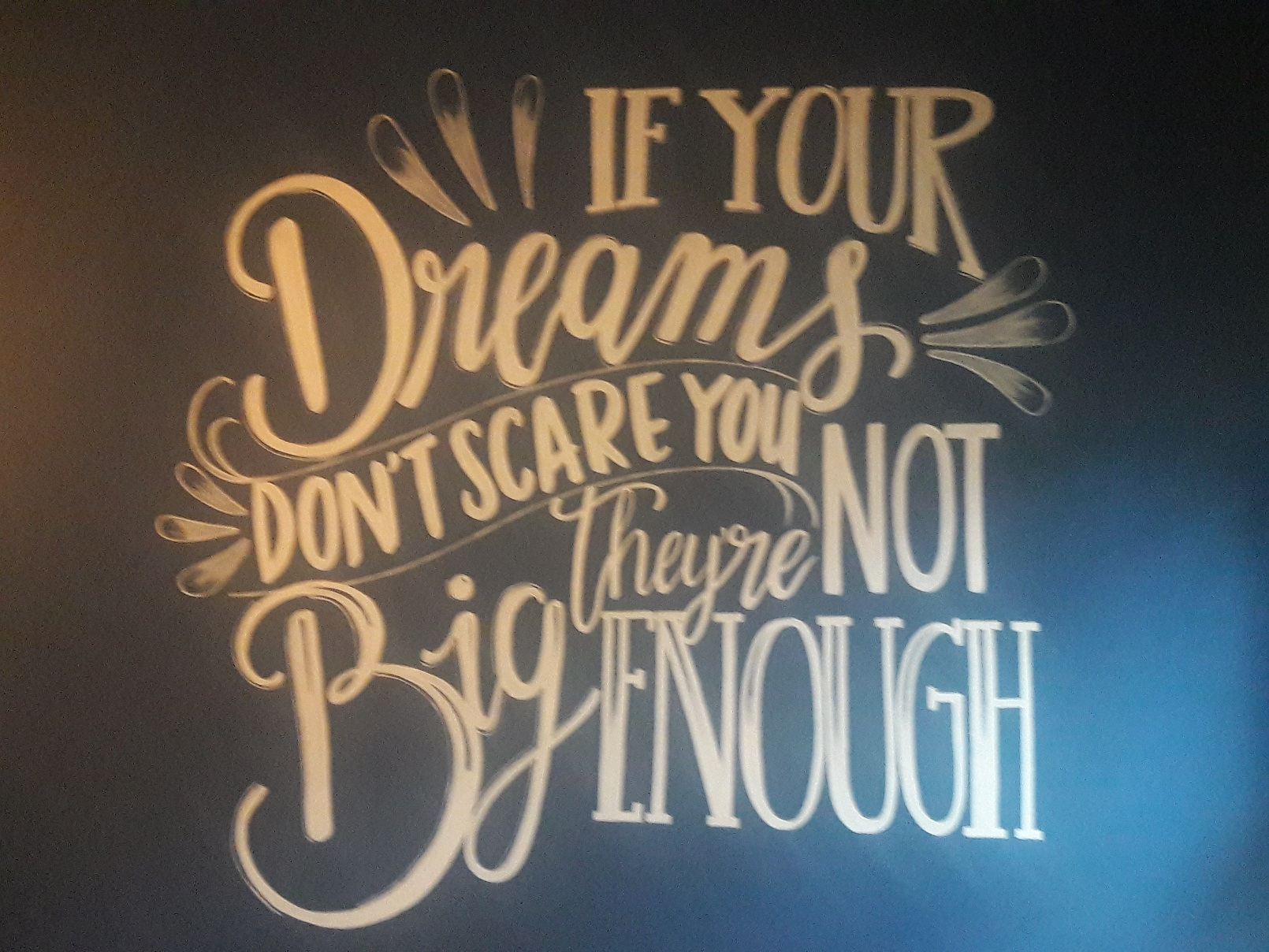 Wall mural 'If your dreams don't scare you they're not big enough'