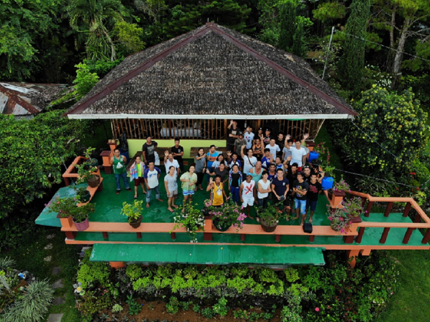 AIDFI team photo taken by Stephen in the Philippines with drone