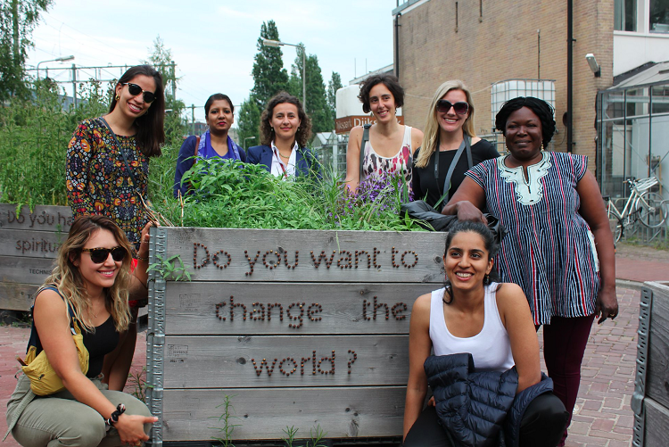 Global Fellowship cohort at MovingWorlds Institute kickoff in Amsterdam