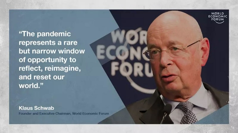 quote from World Economic Founder about great reset of capitalism