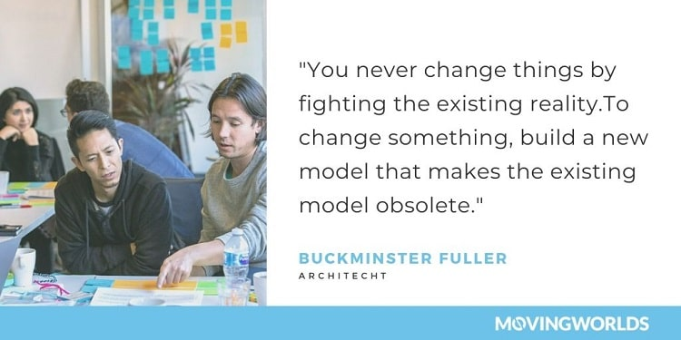 Buckminster Fuller quote about change