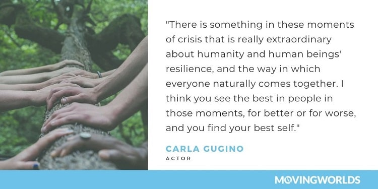 Carla Gugino quote about moments of crisis