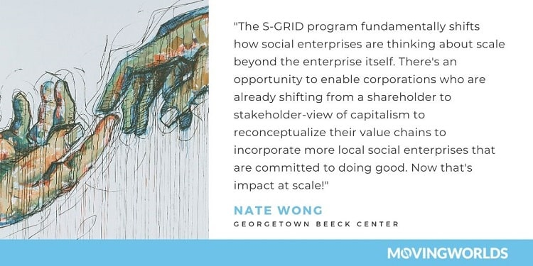 Nate Wong quote about MovingWorlds S-GRID program
